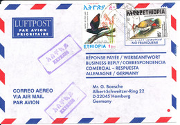 Ethiopia Air Mail Cover Sent Express To Germany 24-11-1998 BIRD Stamps - Ethiopia