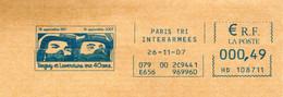 EMA TEMPORAIRE Paris Tri Interarmées 16/09/1967 - 16/09/2007 Tanguy Et Laverdure Ont 40 Ans Aviation Pilote Film Cinéma - Affrancature Meccaniche Rosse (EMA)