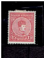 HONGRIE ( Y&T) 1916 - N°163  * Couronnement Des Souverains*     15fi  (neuf) - Unused Stamps