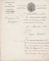 Administration Centrale Du Calvados > Ministre De La Guerre - Mouvement De Troupes Caen  15 Ventose An V Signé Levêque - Historische Documenten