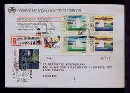 """#87961 AZORES Typical Boats """"Bote /Jeque"""" PORTUGAL Fisher Man Tales 1985 Mailed - Ships"""