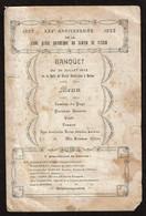 Menu 1922 - Banquet XXVe Anniversaire De La Jeune Garde Catholique Du Canton De Fléron - Voir Scans - Menus