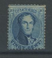20c Gomme Originale  Et Très Frais. Dent 12,5   Cote 680,- Avec Charnière - 1863-1864 Medallions (13/16)