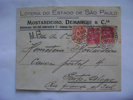 BRASIL / BRAZIL - SYNDICATO CONDOR , LETTER SENT FROM SAO PAULO TO PORTO ALEGRE IN 1930 IN THE STATE - Brieven En Documenten