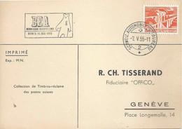 """Sonderkarte  """"BEA Bernische Ausstellung, Bern""""           1955 - Covers & Documents"""