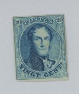 20c Gomme Originale  Et Très Frais. N°11 * Bien Margé  Cote 1290,- Avec Charnière Légère. Infime Trace De Pli - 1863-1864 Medallions (13/16)