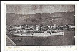 GREECE POSTCARD OF VOLO ( GRéCE ) - LE QUAI -ΒΟΛΟ (ΕΛΛΑΔΑ) -  Η ΑΠΟΒΑΘΡΑ , MILITARY MAIL STAMP , 1941 . - Grèce