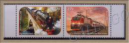 2021-2795-2796 Russia 2v-set Railway Transport.Trains. Ruskealsky Express:Train With Double-decker Cars. Bridges ** - Ponts