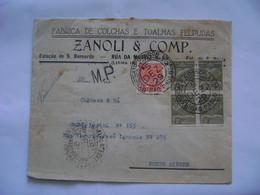 BRASIL / BRAZIL - SYNDICATO CONDOR , LETTER SENT FROM SAO PAULO TO PORTO ALEGRE IN 1929 IN THE STATE - Brieven En Documenten