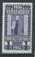 Autriche YT N°132 François-Joseph 1° 1830-1910 Neuf/charnière * - Unused Stamps