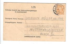 Kriegsgefangenenpost 1945 Aus Kiel , Frankiert - Zona AAS