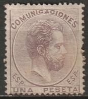 Spain 1872 Sc 187  MH* Partial Gum Repaired Perfs At Right - Nuevos