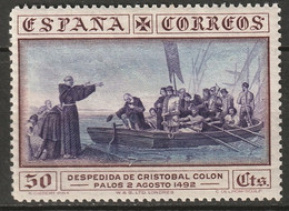 Spain 1930 Sc 428  MH* Wrinkled Gum - Ungebraucht