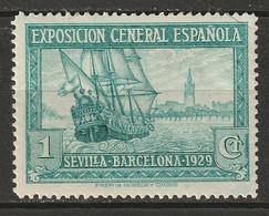 Spain 1929 Sc 345  MH* Some Disturbed Gum - Ungebraucht