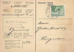 "Grossisten Karte  ""Feldmann Tuchwaren, Lützelflüh""          1958 - Covers & Documents"