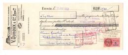 Lettre De Change Manufacture De Chaussures V. Duhoux & Cie à Ernée En 1953- Format : 10.5x27cm - Bills Of Exchange