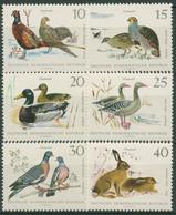 DDR 1968 Tiere Wildtiere Fasan Rebhuhn Enten Gans Taube Hase 1357/62 Postfrisch - Neufs