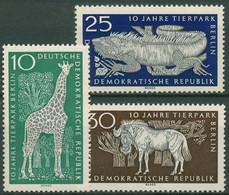 DDR 1965 Tierpark Berlin Giraffe Leguan Gnu 1093/95 Postfrisch - Neufs