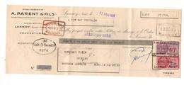 Lettre De Change Etablissements A. Parent & Fils à Lannoy En 1951 - Format : 11x27.5 Cm - Bills Of Exchange