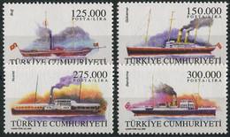 Turkey 2000. Mi.#3211/14 MNH/Luxe. Transport. Merchant Ships (B03) - Ships
