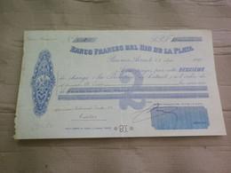 BANCO FRANCES DEL RIO DE LA PLATA - LETTRE DE CHANGE DE 81 FRANCS -  1905 - PUJO / ESTEVENET / PRADA - Bills Of Exchange
