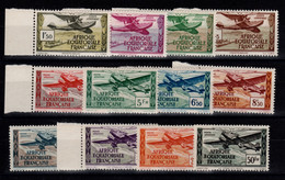 AEF - YV PA 30 à 41 N** Luxe Complete , Serie Sans RF - Unused Stamps