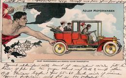 Adler Motorwagen. Adler Fahrradwerke Vorm. Heinrich Kleyer Frankfurt A.M. (1909). - Advertising