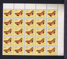 #87969 MOZAMBIQUE Lot 25x $15 Mint Butterflies Papillons (AMPHICALLIA THELWALLI DRC.) Portugal - Farfalle