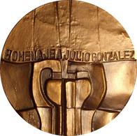 ESPAÑA. MEDALLA F.N.M.T. DEDICADA AL ESCULTOR JULIO GONZÁLEZ. 1.978. BRONCE. ESPAGNE. SPAIN MEDAL - Professionals/Firms