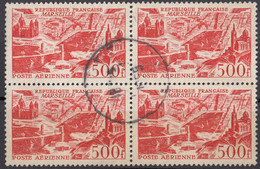 FRANCE - 1949- Quartina Usata Di Yvert Posta Aerea 27. - 1927-1959 Used