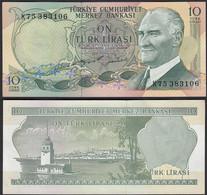 Türkei - Turkey 10 Lira Banknote 1970 (1975) Pick 186 UNC ATATÜRK   (17892 - Turkije