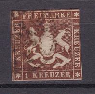 Wuerttemberg - 1857 - Michel Nr. 6 - Gestempelt - 90 Euro - Wurttemberg