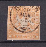 Wuerttemberg - 1857 - Michel Nr. 7 K2 - Gestempelt - 30 Euro - Wurttemberg