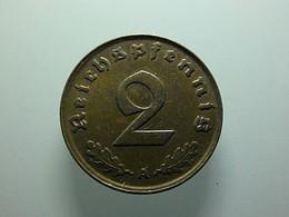 Germany 2 Reichspfennig 1937 A - 2 Reichspfennig