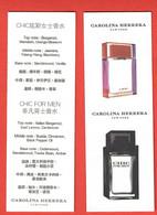 F-  Carte à Sprayer C.Herrera -Chic    Perfume Card -Chine - Modern (from 1961)
