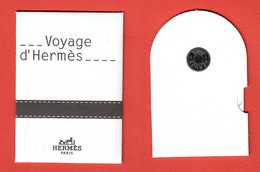 F-  Petite Carte Et Son étui Hermes - Voyage D'Hermes    Perfume Card - Modern (from 1961)