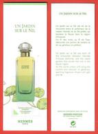 F- Signet Hermes Avec Film - Un Jardin Sur Le Nil -   Perfume Card - Modern (from 1961)