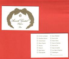 F- Carte Goutal - 8 Fragrances -   Perfume Card - Modern (from 1961)