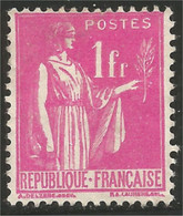 333 France Yv 369 Paix 1fr MH * Neuf CH Légère (369-1) - Neufs
