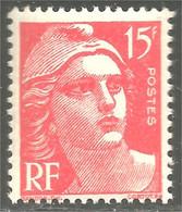 338 France Yv 813 Marianne De Gandon 15f Orange MNH ** Neuf SC (813-1a) - Ongebruikt