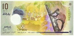 MALDIVES - 10 Rufiyaa - 2015 - UNC. - P 26 - Serie C - Polymer - Monetary Authority - Maldives