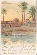 Souvenir De Le Caire. Kafr Près Les Pyramides De Sakkarah - Caïro