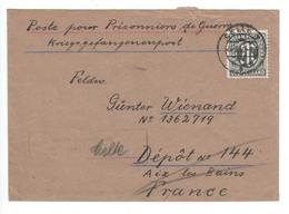 Alliierte Besetzung , AM POST ,  Versuchter Kriegsgefangenenbrief Mit EF Der 50 Pfennig , Geprüft Hettler - Zona AAS