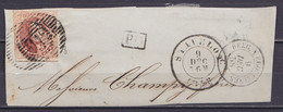 "Devant De Lettre Affr. N°12A P112 Càd STAVELOT /9 DEC 1858 - [PD] - Càd ""BELG. 1 ERQUELINNES"" - 1858-1862 Medallions (9/12)"