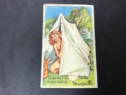 Carte Systeme (vues Enlevées) «Avec Moi Sous Ma Tente Vous Verrez MARSEILLE» - Other