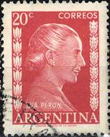 3934 Mi.Nr. 594 Argentinien (1952) Eva Perón (1919-1952), Politician Gestempelt - Gebruikt