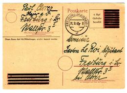 50078 - ENTIER AVEC EFFIGIE D HITLER  OCCULTEE - Storia Postale