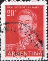 3936a Mi.Nr. 620 Argentinien (1955) José Francisco De San Martín (1778-1850) Gestempelt - Gebruikt