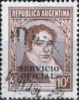 3938 Mi.Nr. 38 Argentinien (1949) Dienstmarke Bernardino Rivadavia (1780~1845) Gestempelt - Gebruikt
