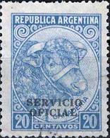 3940 Mi.Nr. 42 Argentinien (1951) Dienstmarke Bull (Cattle Breeding) Gestempelt - Gebruikt